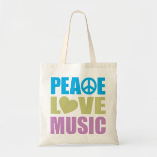 Peace Love Music Canvas Bags
