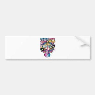 Peace Love Music Car Bumper Sticker
