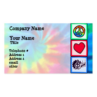 Peace, Love, Music Double-Sided Standard Business Cards (Pack Of 100)