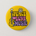 Peace-Love-Music Button