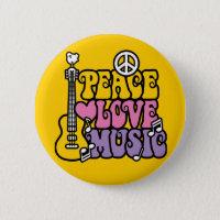 Peace-Love-Music Button