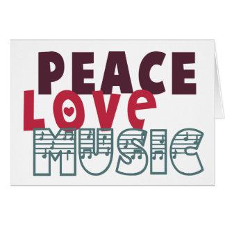 Peace Love Music Card