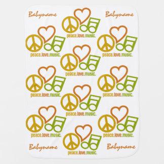 Peace Love Music custom baby blanket