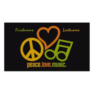 Peace Love Music custom business cards
