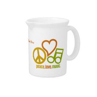 Peace Love Music custom pitcher