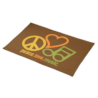 Peace-Love-Music custom placemat