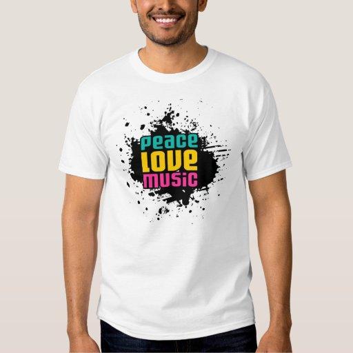 Peace love music design T-Shirt