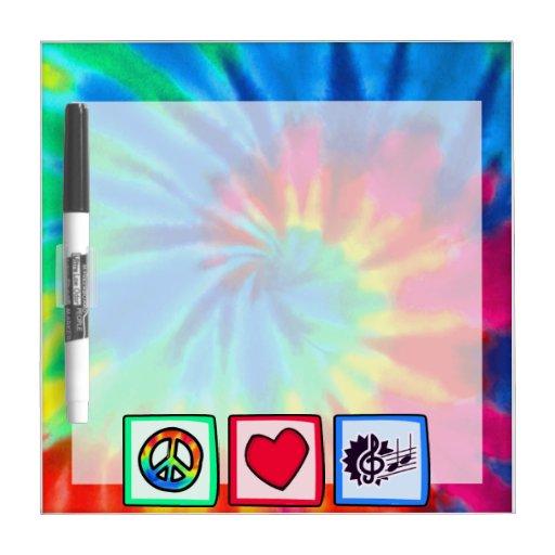 Peace, Love, Music Dry-Erase Board