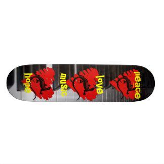 Peace Love Music Hope Skateboard