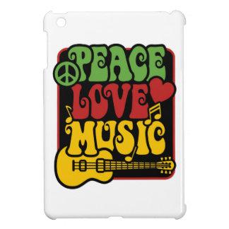 Peace Love Music in Rasta Colors iPad Mini Case