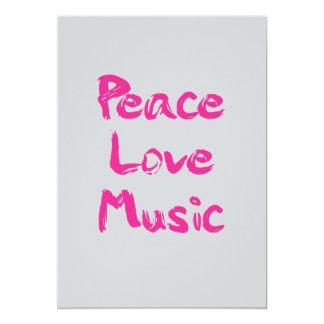 Peace Love Music Invitation