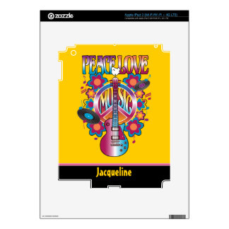 Peace-Love-Music iPad 3 Skins