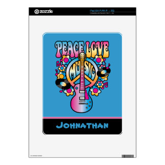 Peace Love Music iPad Decals