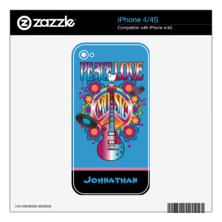Peace-Love-Music iPhone 4 Decal