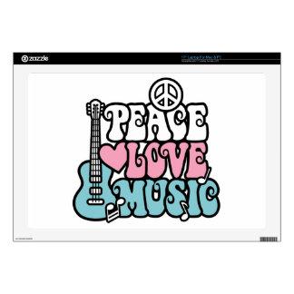 Peace-Love-Music Laptop Skin