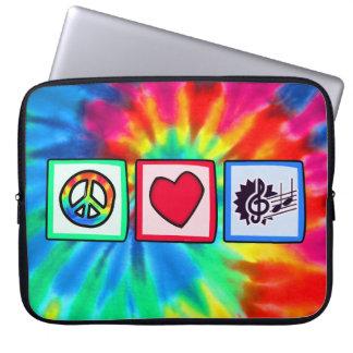 Peace, Love, Music Laptop Sleeves