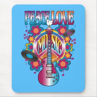 Peace-Love-Music Mouse Pad