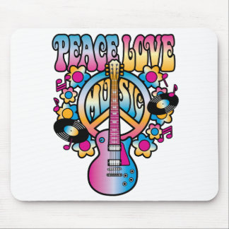 Peace Love Music Mouse Pad