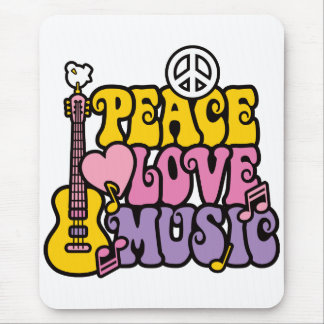 PEACE LOVE & MUSIC MOUSE PAD
