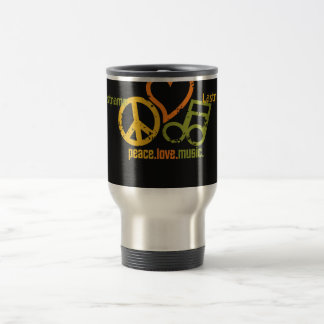 Peace Love Music mug - choose style & color