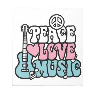 Peace-Love-Music Notepad
