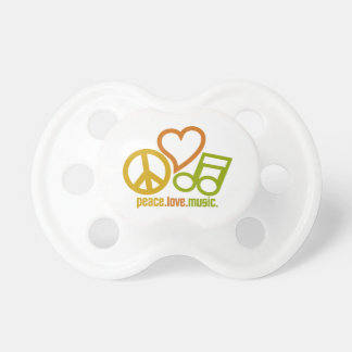 Peace Love Music pacifier