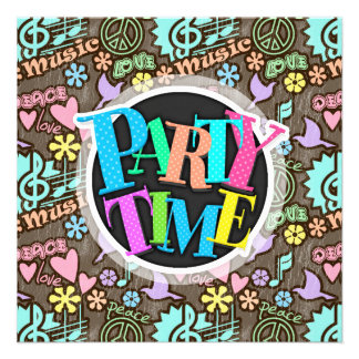 Peace, Love, Music Personalized Announcement