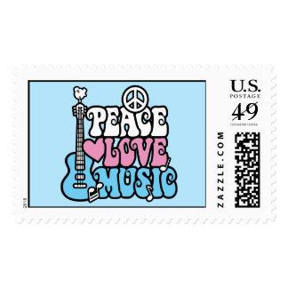 Peace-Love-Music Postage
