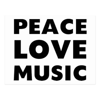 Peace Love Music Postcard