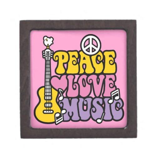 Peace-Love-Music Premium Trinket Box