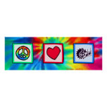 Peace, Love, Music Print