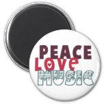 Peace Love Music Refrigerator Magnets