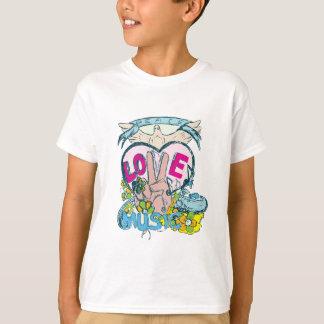 peace love music retro hippie vector art T-Shirt
