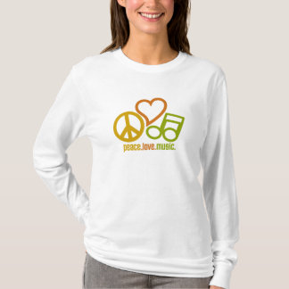 Peace Love Music shirt - choose style & color