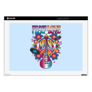 PEACE LOVE MUSIC SKIN FOR LAPTOP