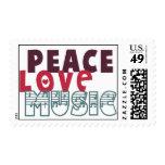 Peace Love Music Stamp