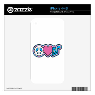 PEACE-LOVE MUSIC Symbols iPhone 4S Decal