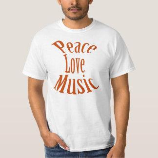 """Peace Love Music"" T Shirt"