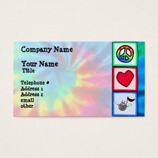 Peace, Love, Music; Tie Dye Business Card