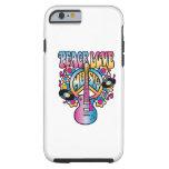 Peace Love Music Tough iPhone 6 Case