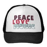 Peace Love Music Trucker Hat