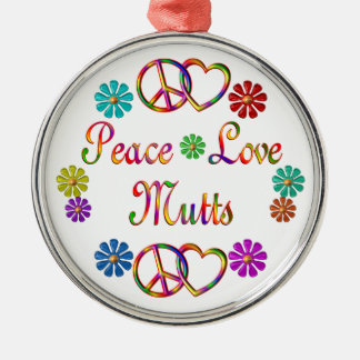 PEACE LOVE MUTTS ORNAMENTS