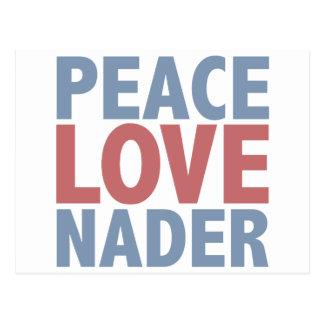 Peace Love Nader Postcard