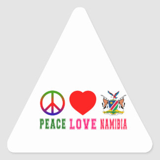 Peace Love Namibia Triangle Sticker