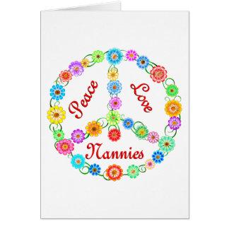 Peace Love Nannies Card