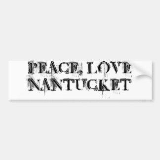 Peace Love Nantucket sticker Car Bumper Sticker