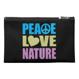 Peace Love Nature Travel Accessory Bags