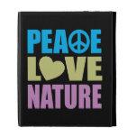 Peace Love Nature iPad Folio Covers