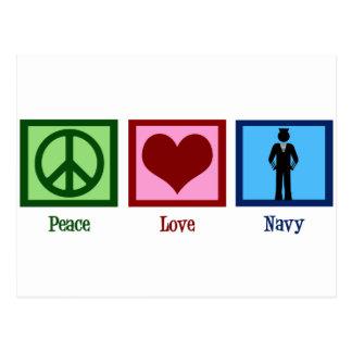 Peace Love Navy Postcard