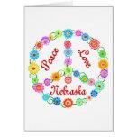 Peace Love Nebraska Greeting Cards